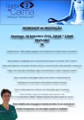 cartaz workshop meditação PT